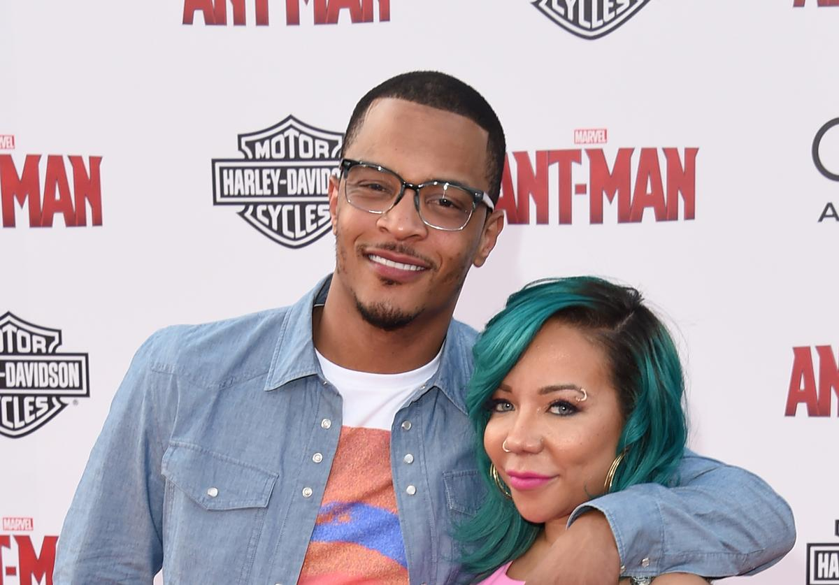 T.I. and Tiny at Ant-Man movie premiere