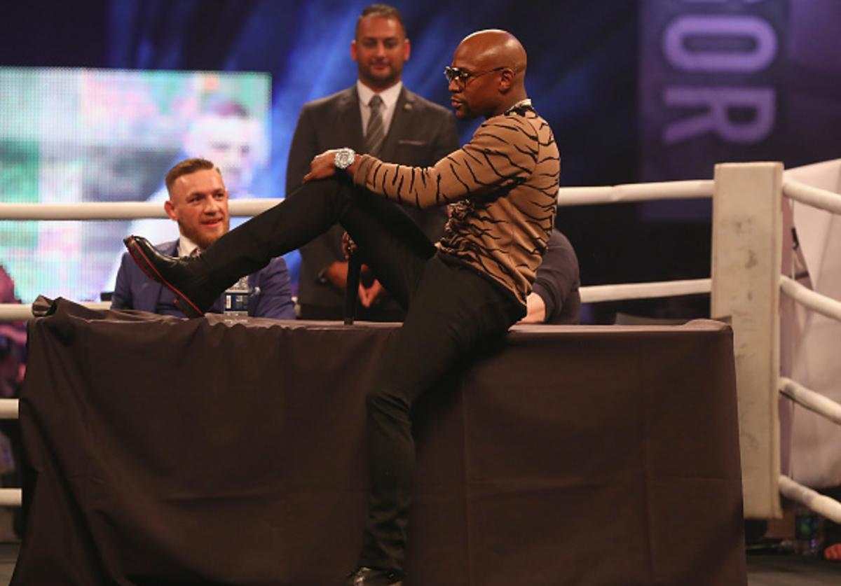 Floyd and Conor at presser in London