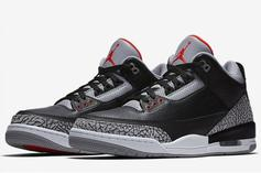 "Air Jordan 3 ""Black Cement"" Restock Announced"
