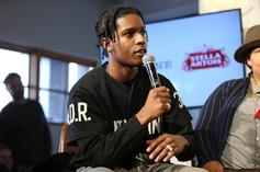 "A$AP Rocky Unveils ""Testing"" Album Cover; Project To Feature Kid Cudi & Skepta"