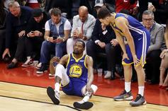 Kevin Durant Exits Game 5 With Right Calf Injury As He Limps Off The Court