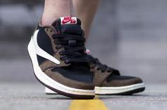 Travis Scott X Air Jordan 1 Low On-Foot Pics: Best Look Yet