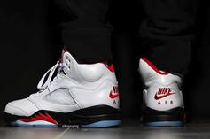 """Air Jordan 5 """"Fire Red"""" Coming In Spring Of 2020: On-Foot Images"""