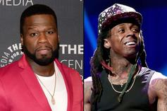 "50 Cent Reacts To Lil Wayne's Photo Op With President Trump: ""Oh No"""