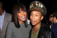 "Pharrell Williams Tells Naomi Campbell She Inspired Gwen Stefani's ""Hollaback Girl"""