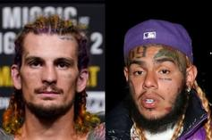 """MMA Fighter Sean O'Malley Gets """"69"""" Tattoo Inked By 6ix9ine Himself"""