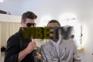 """Robin Thicke Feat. T.I. & Pharrell  """"Blurred Lines BTS"""" Video"""