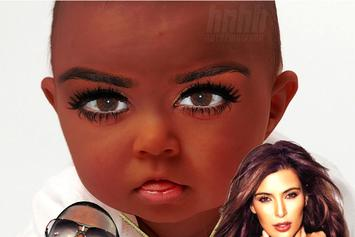 "Kanye West Feat. Kim Kardashian ""Hip Hop Baby Mash-Up: Kim Kardashian & Kanye West"" Video"