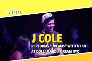 """J. Cole Performs """"Dreams"""" With A Fan Live In NYC"""