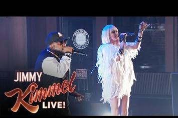 "Big Boi & Phantogram Perform ""Drum Machine"" & ""Goldmine Junkie"" On Kimmel"