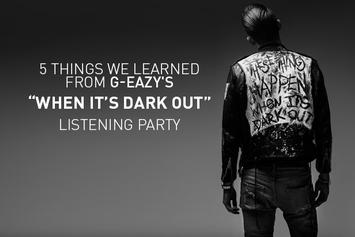 """5 Things We Learned From G-Eazy's """"When It's Dark Out"""" Listening Party"""
