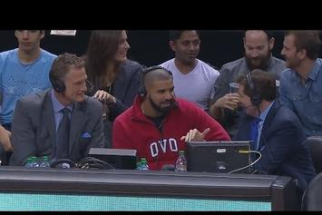 "Drake Sits Down With Toronto Raptors Commentators After Dropping ""Summer Sixteen"""