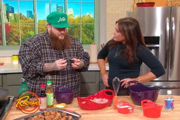 "Action Bronson & Rachael Ray Cook Up ""Explosive Crispy Chicken"""