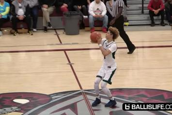 Watch 15-Year Old LaMelo Ball Call His Shot From Half Court