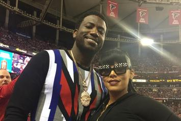 Gucci Mane & Fiance Reportedly Tried Kicking An Army Vet Out Of His Seat At Falcons Game