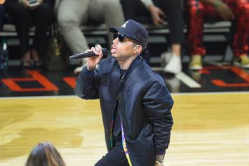 """Kid Ink Performs """"Swish"""" Live At LA Clippers Game"""