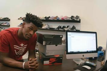 "Jimmy Butler Unveils ""Pantone"" Air Jordan 12s At Saint Alfred's In Chicago"