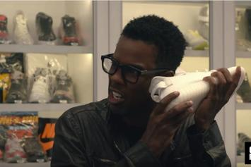 """Watch Chris Rock Go """"Sneaker Shopping"""" At Stadium Goods In NYC"""