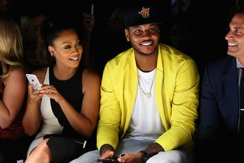 Carmelo And La La Anthony Reunite For Mother's Day In NYC