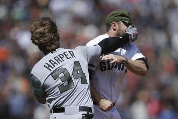 Bryce Harper Starts Massive Brawl During Nationals & Giants Game