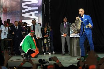 Floyd Mayweather & Conor McGregor Trade Insults At Toronto Press Conference
