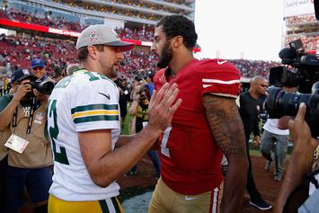 "Rodgers Supports Colin Kaepernick: ""He Should Be On A Roster"""