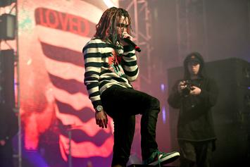 Lil Pump Throws A Spontaneous Mini Concert In Middle Of Parking Lot