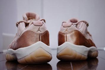 """Rose Gold"" Air Jordan 11 Low New Images Revealed"