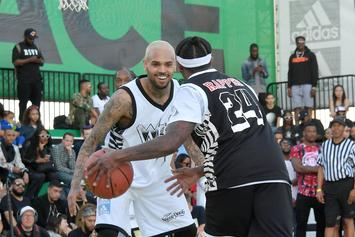 Chris Brown & The Game Caught Hitting Blunt In Middle Of Hip-Hop All Star Game