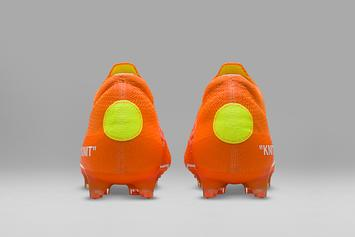 Off-White x Nike Soccer Cleats Revealed In Detail