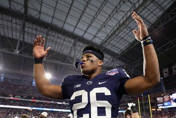 "Saquon Barkley Goes ""Sneaker Shopping"" Talks Jay Z, LeBron & More"