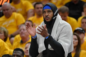 "Carmelo Anthony Quashes Proposed Bench Role: ""That's Out Of The Question"""