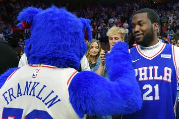 Philadelphia 76ers Bring Meek Mill To Boston As Game 2 Good Luck Charm