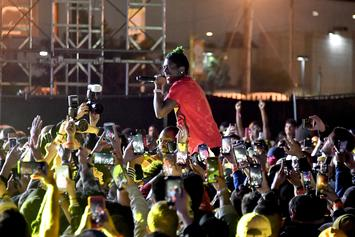 Lil Uzi Vert Completes 50-Foot Stage Dive At Rolling Loud