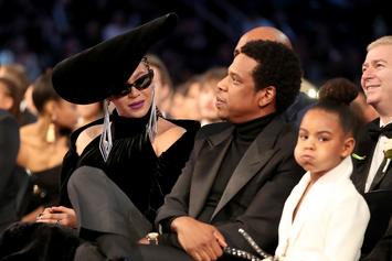 """Blue Ivy Isn't Trying To See Beyonce & Jay-Z's Sexy Photos During """"On The Run Tour II"""""""