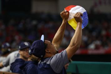 Rays' Right Fielder Carlos Gomez Devastates A Helpless Gatorade Cooler