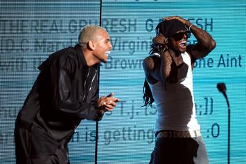 "Chris Brown Praises Lil Wayne As The GOAT For Clever ""Suicide"" Rhymes"