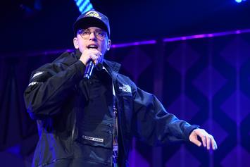 Logic Solves Rubik's Cube Behind His Back In The Middle Of His Concert