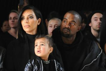"""Kanye West Poses With North & Saint For Harper Bazaar's """"Icons"""" Issue"""