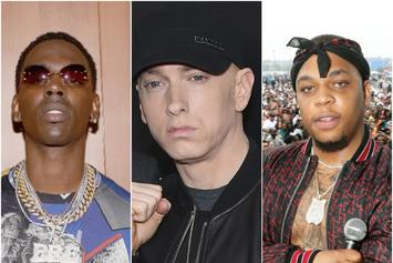 """Eminem, Young Dolph & Don Q Lead This Week's """"FIRE EMOJI"""" Playlist"""