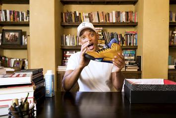 """Will Smith Unboxes Exclusive """"Fresh Prince"""" Air Jordan 5"""