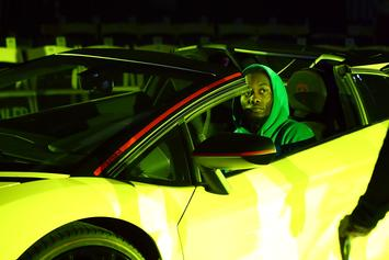 "Offset Lights One Up While Stunting His ""Green Lantern Lambo"""
