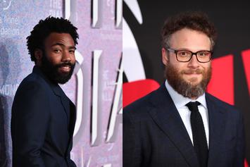 """Donald Glover & Seth Rogen Pictured During """"Lion King"""" Voice Recording Session"""