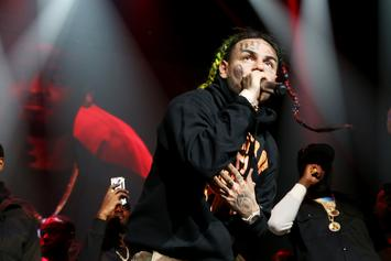 6ix9ine Shows The Inside Of His Childhood Home & Hands Money To Kids
