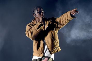 """Travis Scott Opens """"S.P.A.C.E."""" Store In Houston With Chase B"""