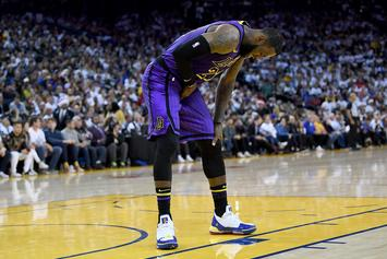 LeBron James Went Out With A Groin Injury In Win Against The Warriors