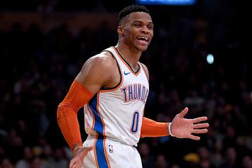 Russell Westbrook Mocks Lance Stephenon's Air Guitar Celebration: Video