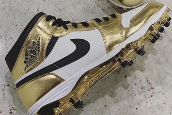 Saints' Michael Thomas Shows Off Gold Air Jordan 1 Cleats For Playoffs