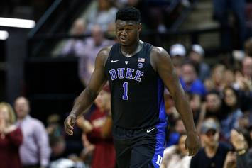 Duke's Zion Williamson Leaves FSU Game With Freak Eye Injury