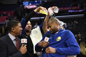 """DeMarcus Cousins Fouls Out In Warriors' Debut : """"I'm Just Glad I Can Still Dunk"""""""